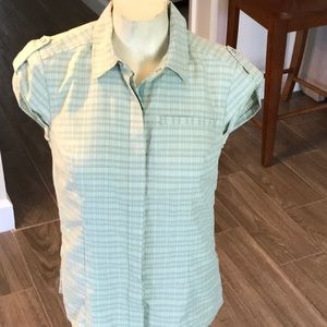 REI Sleeveless Snap Front UPF 30+ Shirt Size S